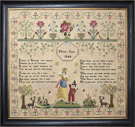 Martha James 1844 by Hands Across the Sea Samplers