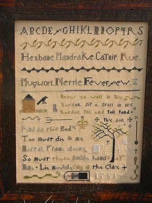 Witches Garden Sampler by Notforgotten Farm