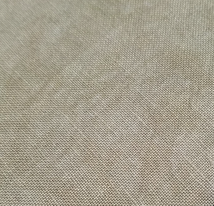 40 Count Parchment Fat Quarter Hand-Dyed Linen by Fiber on a Whi