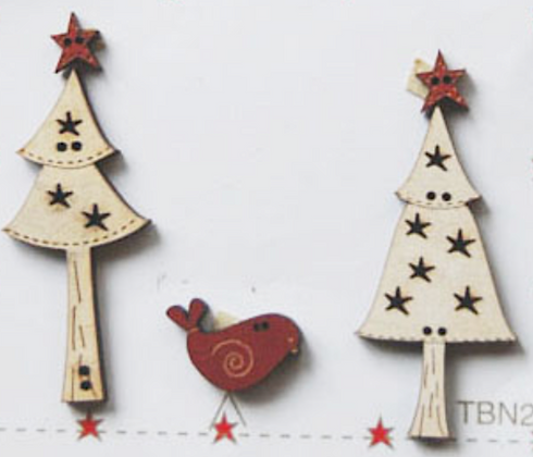 Bird & Christmas Trees by The Bee Company TBN2