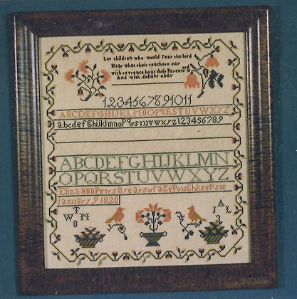 Eliza Ann Peters 1820 KIT with floss/linen by The Scarlet Letter