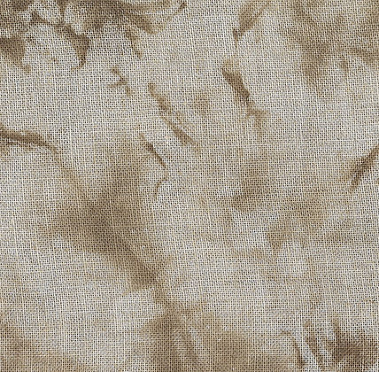 36 Count Spilled Coffee Fat Quarter Hand-Dyed Linen by xJudesign