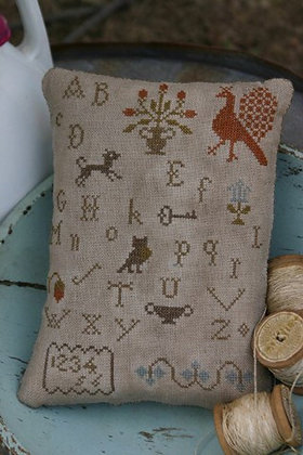 *Early Style Alphabet Pillow Pinkeep by Stacy Nash Primitives