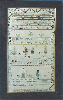 Mary Hales 1733 KIT with DMC/LINEN The Scarlet Lette