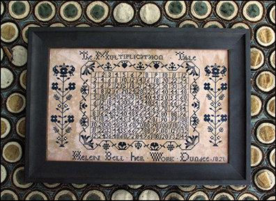 Helen Bell's Multiplication Table Sampler by Carriage House Samplings