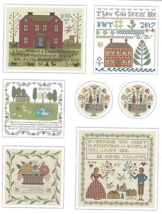 Red House Stickers by Heartstring Samplery