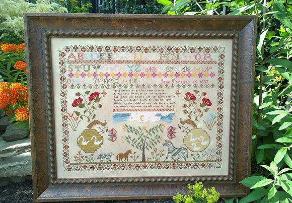 Jane Portues 1837 by Samplers Not Forgotten