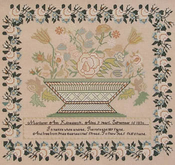 Margaret Ann Klinedienst 1830 by Queenstown Sampler Designs