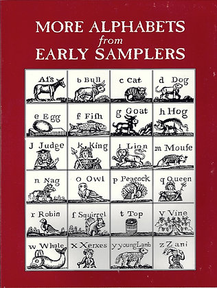 More Alphabets from Early Samplers by The Scarlet Letter