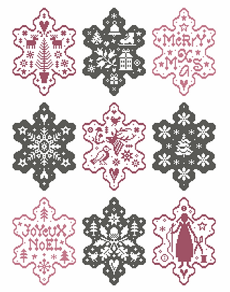 Country Snowflakes II by Marjorie Massey PR24