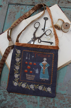 Tomato Harvest Sewing Bag by Stacy Nash Primitives