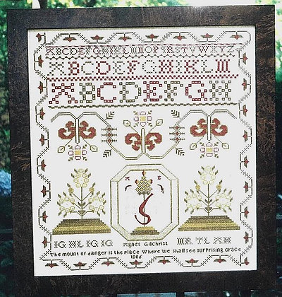 Agnes Gilchrist 1806  Sampler by Threads of Gold