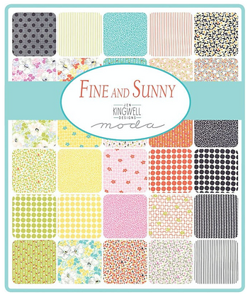 Fine and Sunny Fat Quarter Set by Jen Kingwell/Moda Fabrics