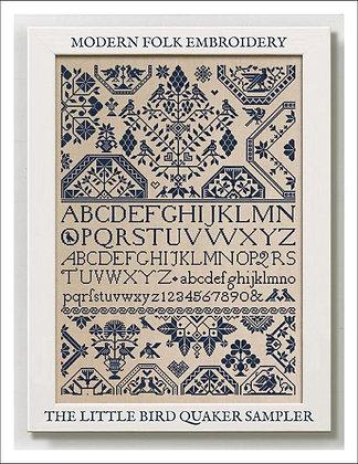 The Little Bird Quaker Sampler by Modern Folk Embroidery