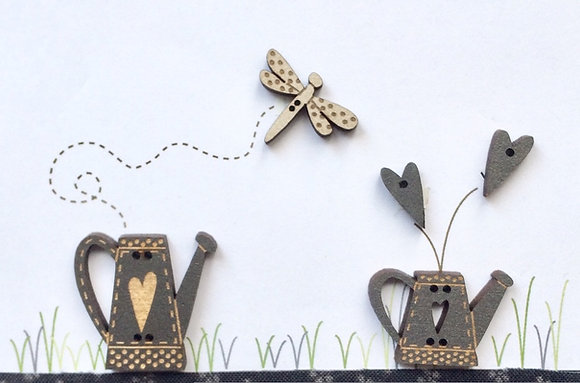 Watering Cans and Dragonfly by The Bee Company TB53B