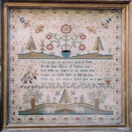 Sophia's Sampler 1780 by The Scarlet Letter