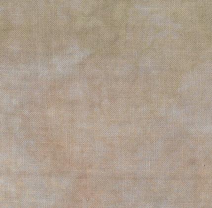 36 Count Cafe au Lait Fat Quarter Hand-Dyed Linen by Fiber on a Whi