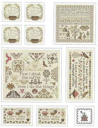 Coffee Stickers by Heartstring Samplery