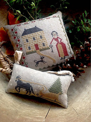 Sleigh Bells Pinkeep & Ornament by Stacy Nash Primitives