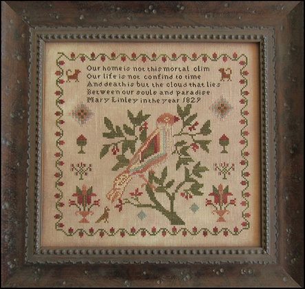 Mary Linley 1829 Reproduction Sampler by The Scarlett House