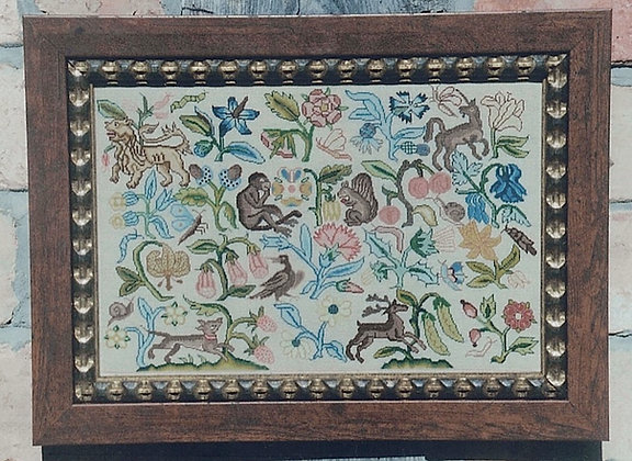 Spot Motif Embroidery circa 1640 by The Scarlet Letter