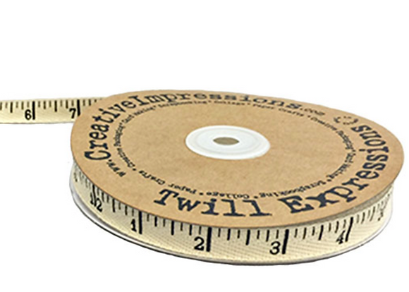Antique Ruler Twill Tape by Creative Impressions