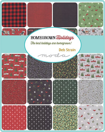Homegrown Holidays Fat Quarter Bundle by Deb Strain/Moda Fabrics