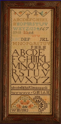 American Quaker Band Sampler 1803 by The Scarlet Letter