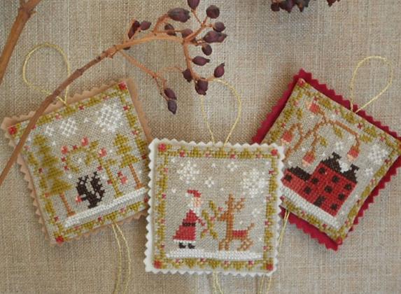 Christmas Ornament Trio by Barbara Ana Designs