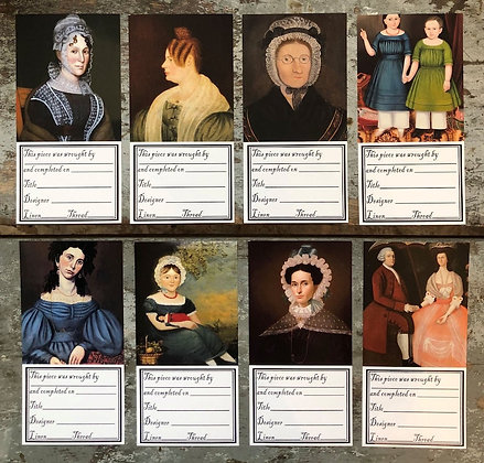Early Portraits Needlework Labels by Kathy Barrick