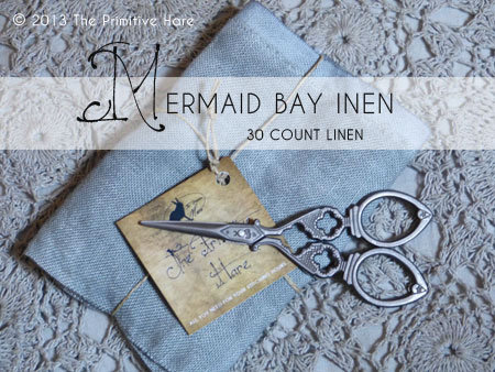 30 Count Mermaid Bay Hand-Dyed Linen by The Primitive Hare