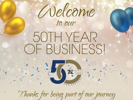 50 YEARS  - WOW!