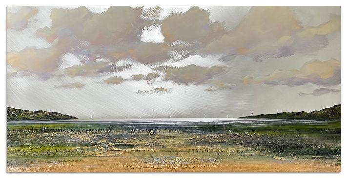 'High Tide in Summer', 50x100cm, mixed media on aluminium, £2200_1.jpg