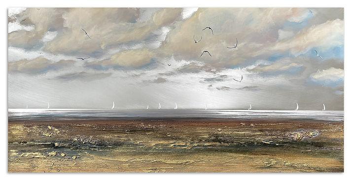 'Evening is Approaching', 50x100cm, mixed media on aluminium, £2200_1.jpg