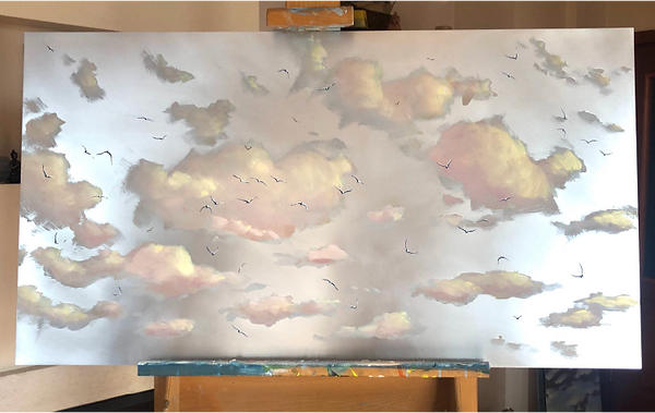 'Blissful Morning' | 60x110cm, Oil on al