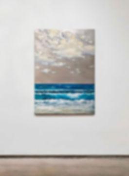 "seascape by Stiliana Alexieva ""Summer Spirit"" oil and mixed media on aluminium panel 50 x 70 cm"