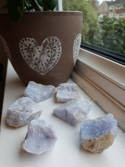Blue Lace Agate Rough Minerals
