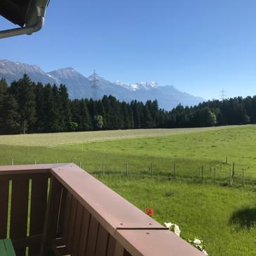 Balkon Ausblick auf die Nordkette Innsbruck