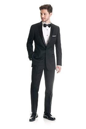 Black Slim Fit Tuxedo Coat
