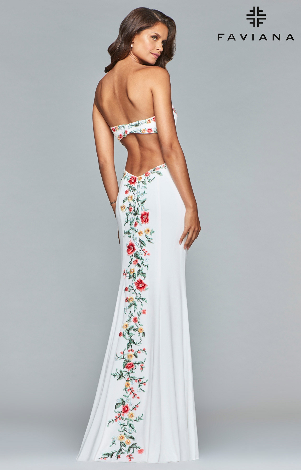 faviana white floral