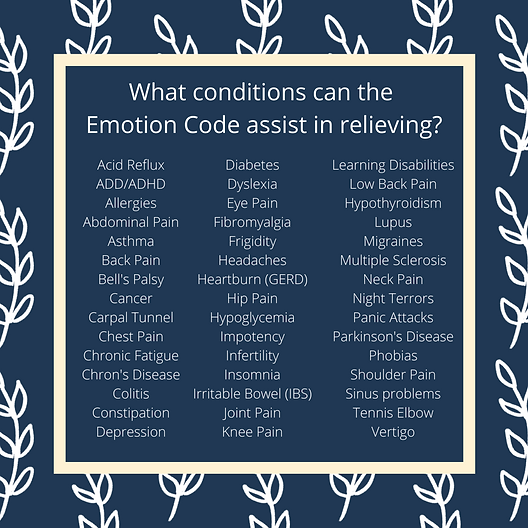 What conditions can the Emotion Code ass