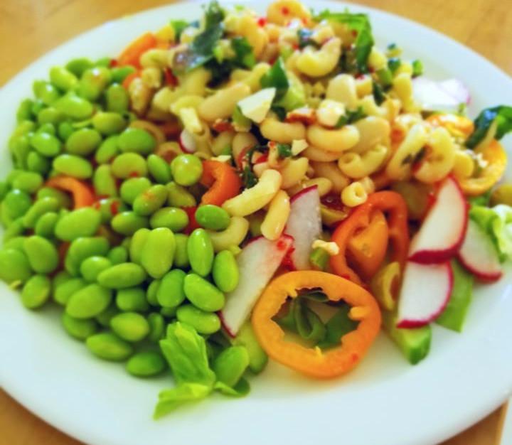salade, salade repas, repas santé, edamame, légumes, repas végétarien, 21dayfix
