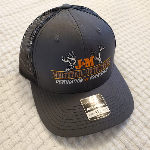 Mesh Snapback Trucker Hat - Grey/Black