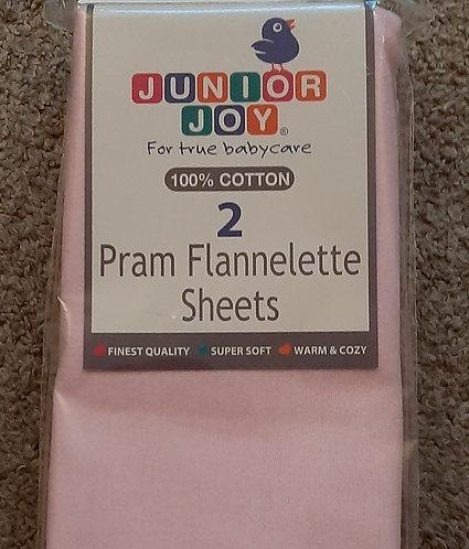 Pram/Crib FLAT Sheets (70 x 100cms)