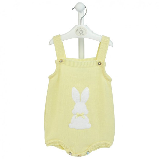 Dandelion Knitted Romper with Bunny Motif