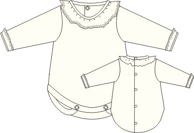 Calamaro Frill Collar Bodysuit - Style 2