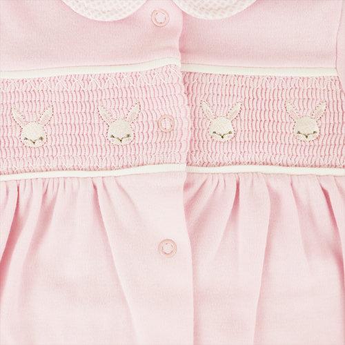 Dandelion Smocked Babygrow - Bunnys