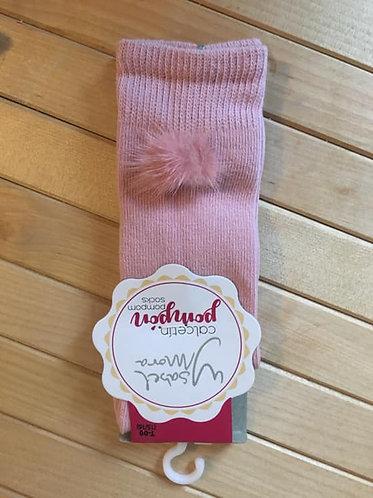 Ysabel Mora Baby Spanish Fur Pom Pom Knee Socks