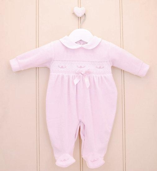 Pex ~Pink Bow~ Smocked Babygrow