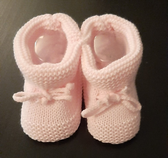 Nursery Time Knitted Newborn Booties - 3 colours